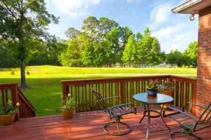Deck is ideal place for a gas grill or smoker